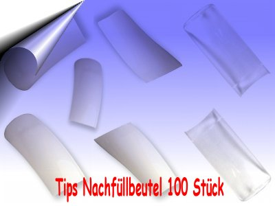 Nagel-Tips-Beutel-100Stueck